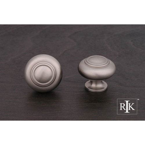 RK International Inc Pewter Small Double Ringed Knob