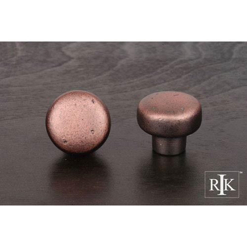 RK International Inc Distressed Copper Distressed Heavy Circular Knob