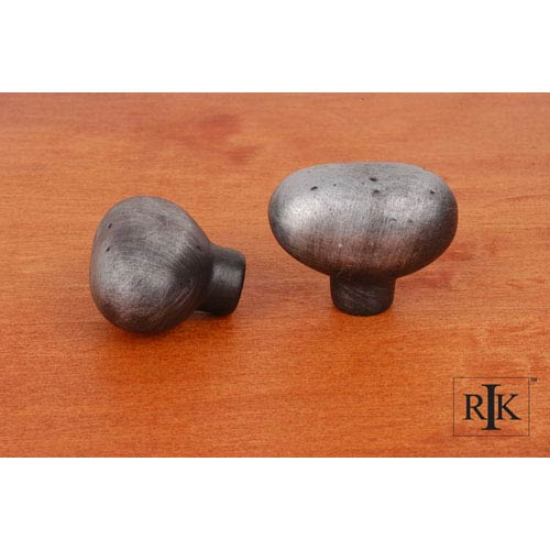 Distressed Nickel Distressed Heavy Egg Knob