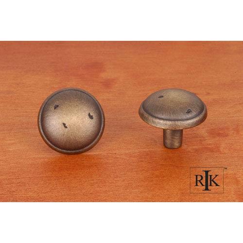 Antique English Distressed Mushroom Knob with Ring Edge