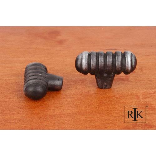 Distressed Nickel Distressed Large Ribbed Knob