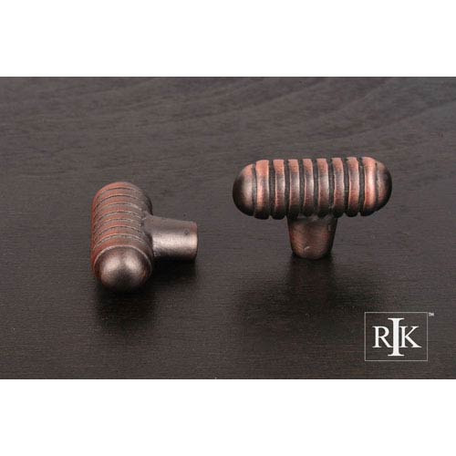 Distressed Copper Distressed Small Ribbed Knob