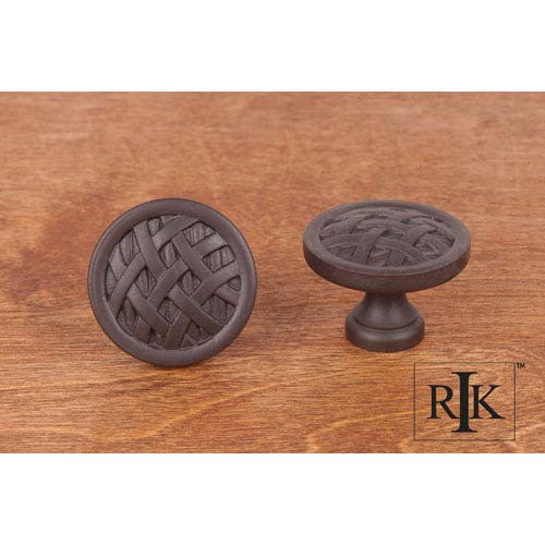 RK International Inc Oil Rubbed Bronze Large Cross-Hatched Knob
