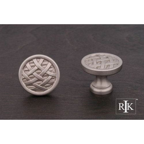 Pewter Small Cross-Hatched Knob