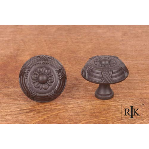 RK International Inc Oil Rubbed Bronze Large Crosses and Petals Knob
