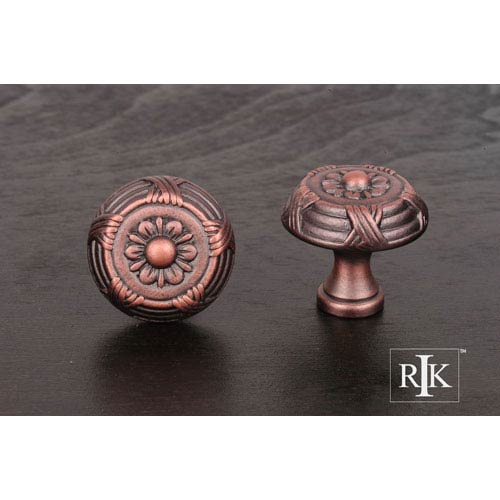 RK International Inc Distressed Copper Small Crosses and Petals Knob