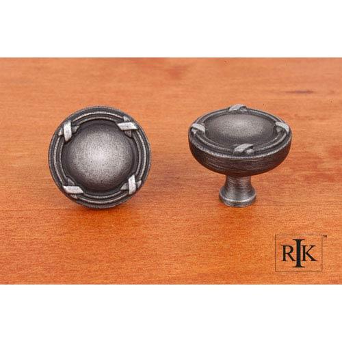 RK International Inc Distressed Nickel Lines and Crosses Knob