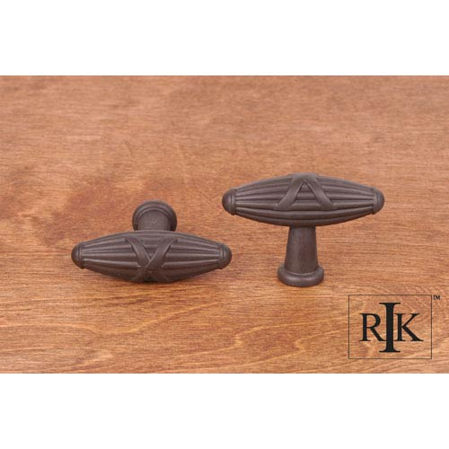 Oil Rubbed Bronze Large Crossed Indian Drum Knob