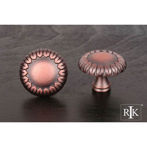 RK International Inc Distressed Copper Large Petals at Edge Knob