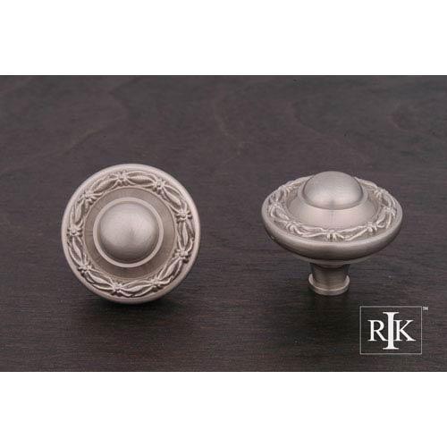 RK International Inc Pewter Big Deco-Leaf Edge Knob