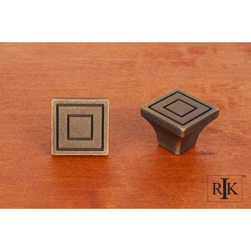 RK International Inc Antique English Large Contemporary Square Knob