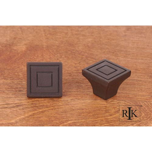 RK International Inc Oil Rubbed Bronze Large Contemporary Square Knob