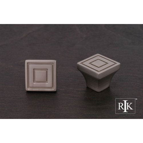 RK International Inc Pewter Small Contemporary Square Knob