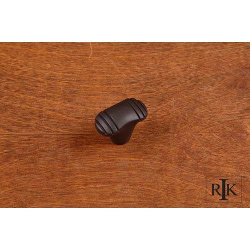 RK International Inc Oil Rubbed Bronze Small Ridges at Edge Knob