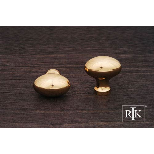 RK International Inc Polished Brass Football Knob