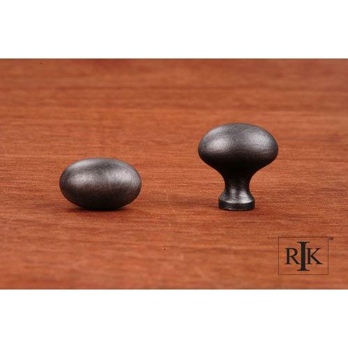 Distressed Nickel Oval Knob