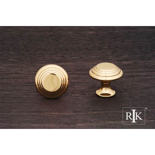 RK International Inc Polished Brass Step Up Beauty Knob