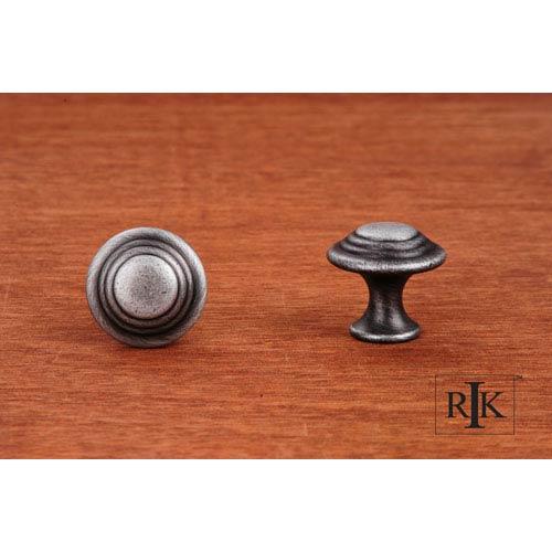 RK International Inc Distressed Nickel Step Up Beauty Knob
