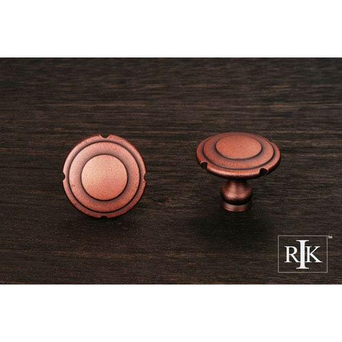 Distressed Copper Truncated Edge Knob
