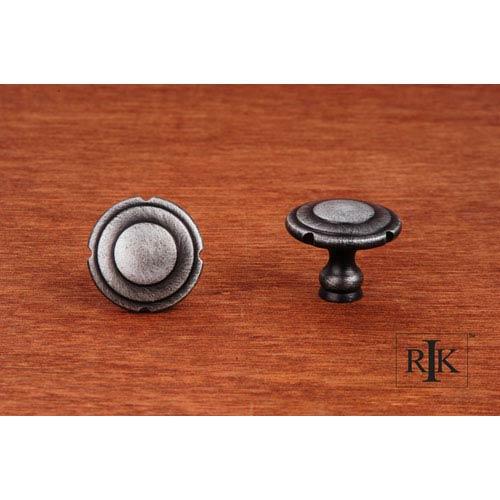 RK International Inc Distressed Nickel Truncated Edge Knob