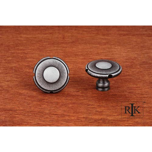 RK International Inc Distressed Nickel Truncated Edge Knob