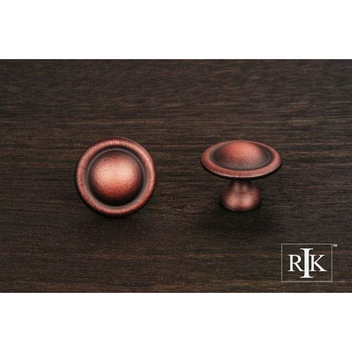 RK International Inc Distressed Copper Smooth Dome Knob