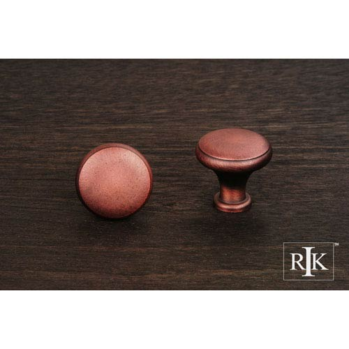 RK International Inc Distressed Copper Solid Knob with Flat Edge