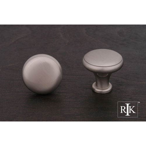 Pewter Solid Knob with Flat Edge