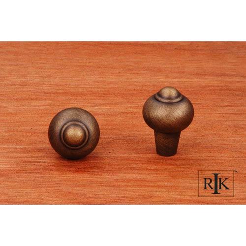 RK International Inc Antique English Solid Round Knob with Tip