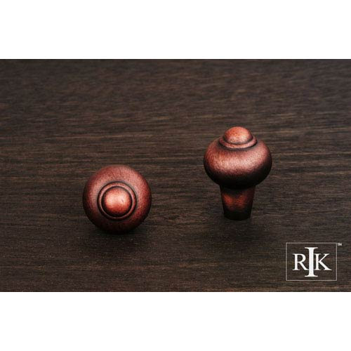 RK International Inc Distressed Copper Solid Round Knob with Tip