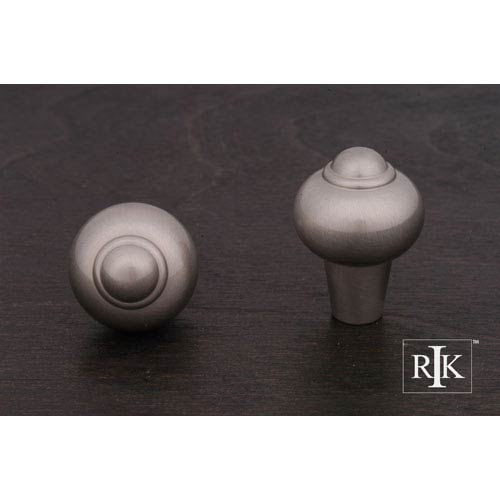 RK International Inc Pewter Solid Round Knob with Tip