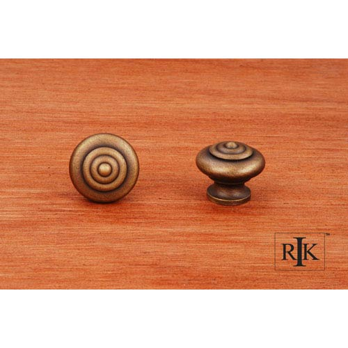 Antique English Solid Knob with Circle at Top