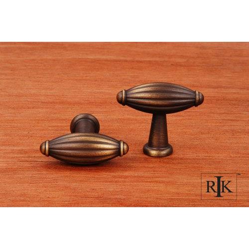 RK International Inc Antique English Small Indian Drum Knob