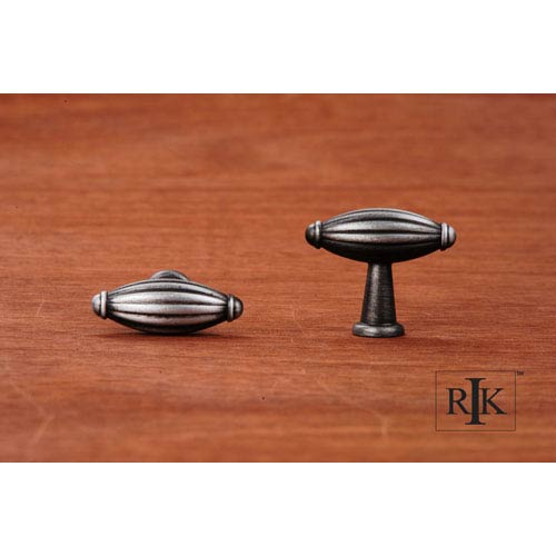 RK International Inc Distressed Nickel Small Indian Drum Knob