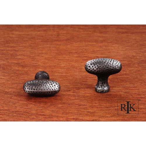 RK International Inc Distressed Nickel Slim Egg Knob with Divet Indents
