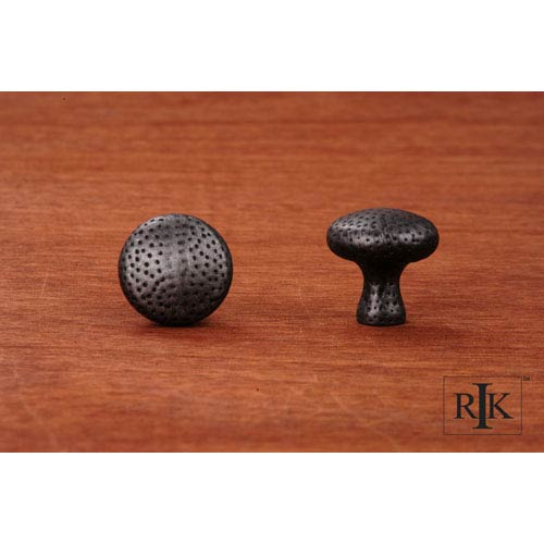 RK International Inc Distressed Nickel Solid Round Knob with Divet Indents