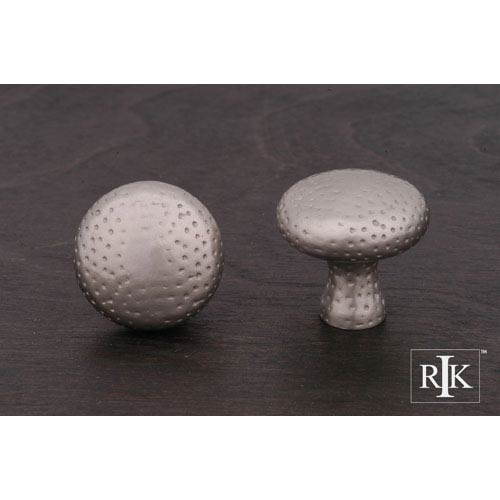 RK International Inc Pewter Solid Round Knob with Divet Indents