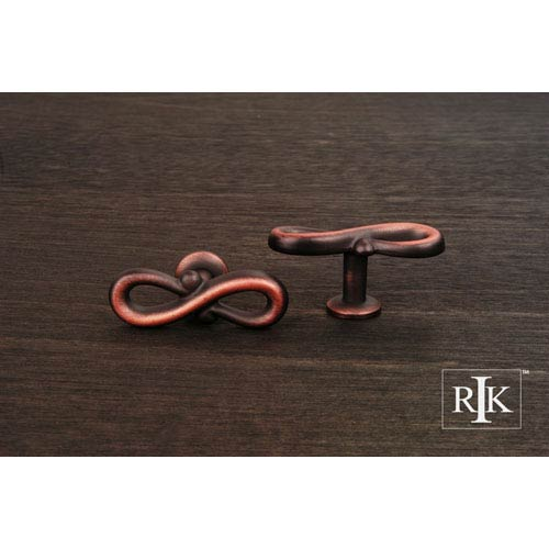 RK International Inc Distressed Copper Butterfly Pretzel Knob