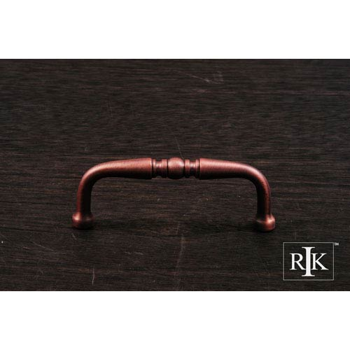 RK International Inc Distressed Copper Decorative Curved Pull