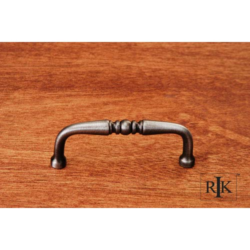 RK International Inc Distressed Nickel Decorative Curved Pull