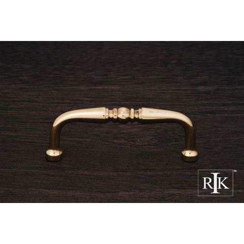RK International Inc Polished Brass Decorative Curved Pull