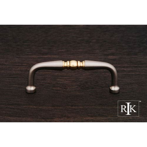 RK International Inc Pewter and Brass Decorative Curved Pull