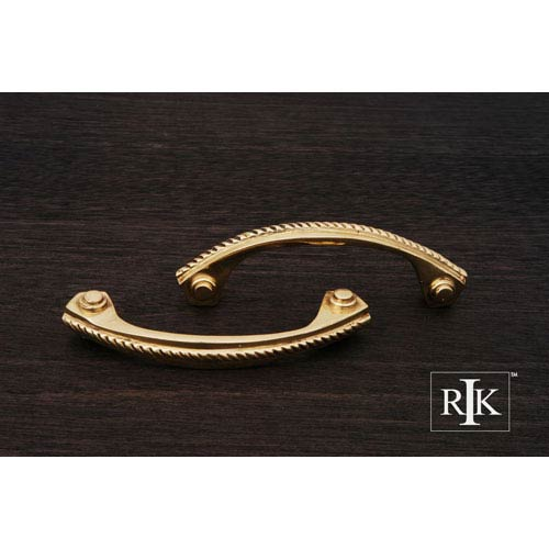 RK International Inc Polished Brass Rope Pull