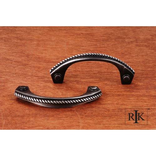RK International Inc Distressed Nickel Rope Bow Pull