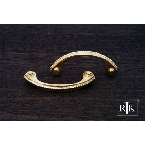 RK International Inc Polished Brass Beaded Bow Pull