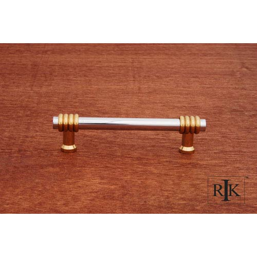 RK International Inc Chrome and Brass Two Tone Swirl Pull