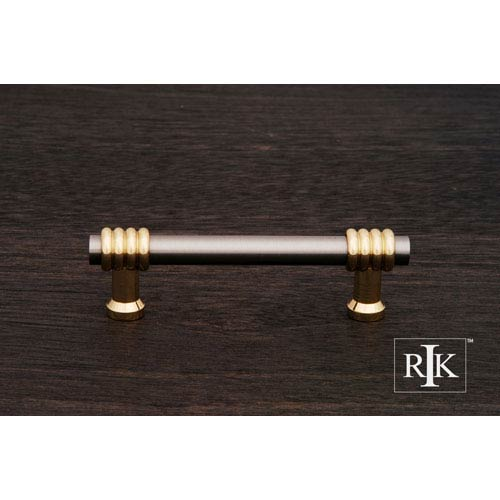 RK International Inc Pewter and Polished Brass Two Tone Swirl Pull