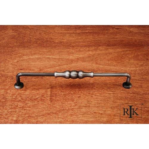 RK International Inc Distressed Nickel Beaded Middle Vertical Pull