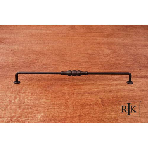RK International Inc Oil Rubbed Bronze Beaded Middle Vertical Pull