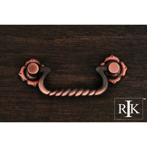 RK International Inc Distressed Copper Rope Bail Pull with Clover Ends